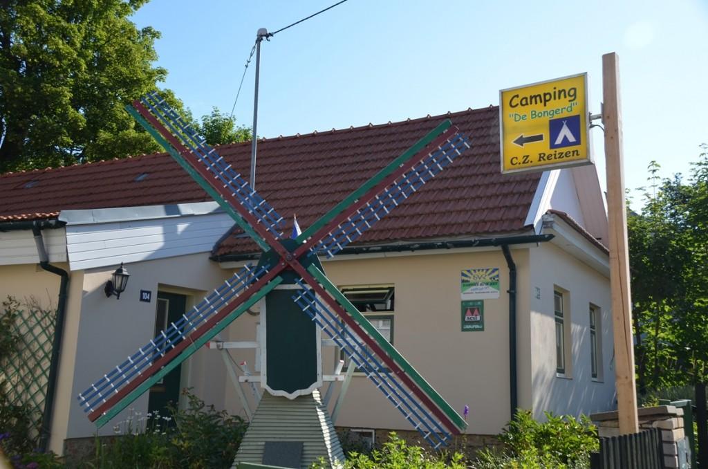 Nederlandse camping Tsjechie ingang