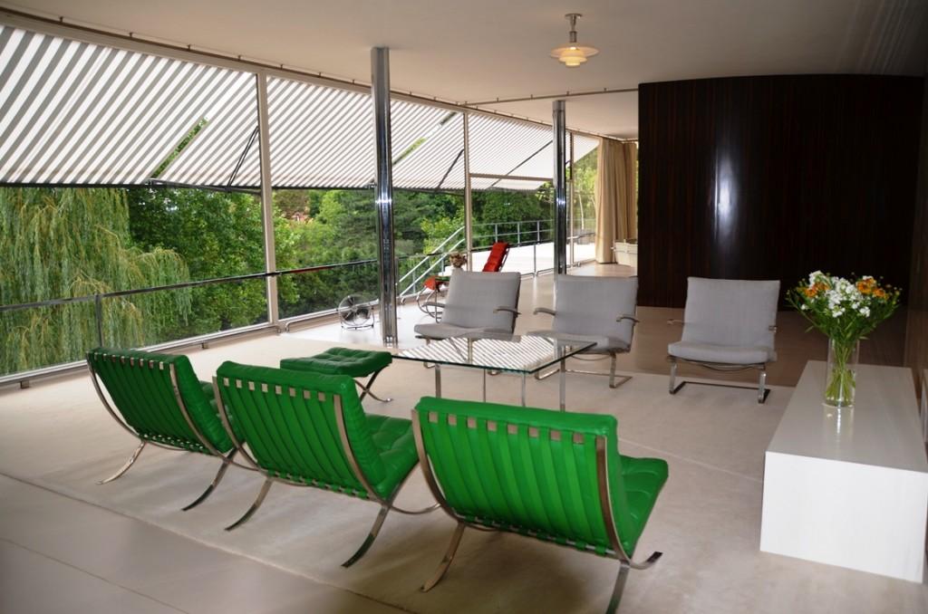 Villa Tugendhat stoelen en ramen