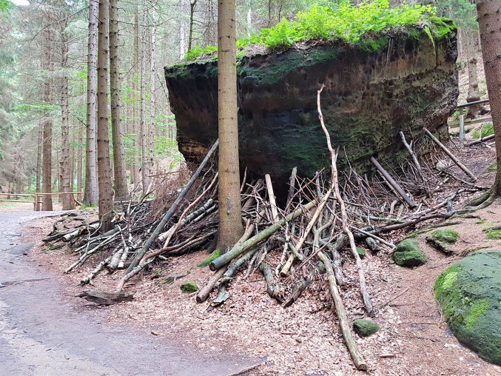 rotsen in Boheems Zwitserland