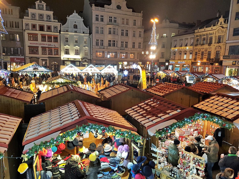 kerstmarkt in tsjechie pilsen
